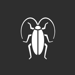 white cockroach on a gray background to represent pest control in new orleans