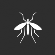 white mosquito on a gray background to represent mosquito control in new orleans